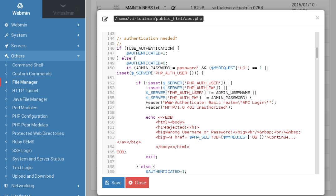 Filemin text editor with syntax highlighting screenshot